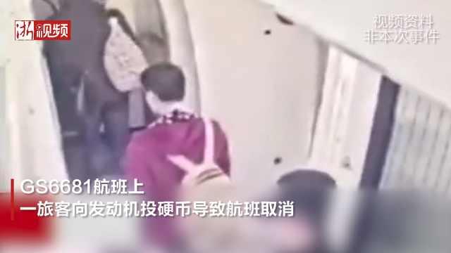 一航班旅客向飞机发动机扔硬币被捕