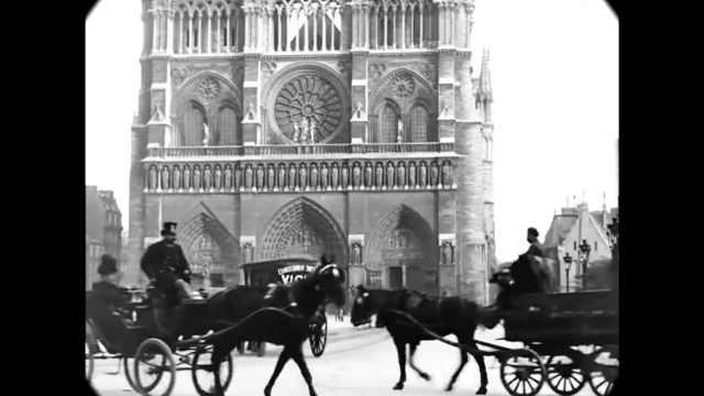 珍贵档案记录19世纪的巴黎圣母院