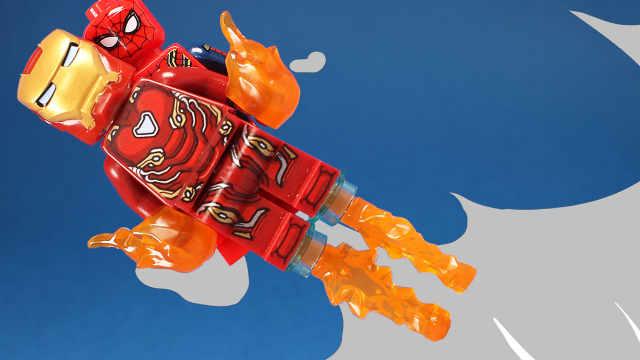 拼装超级英雄颜色积木