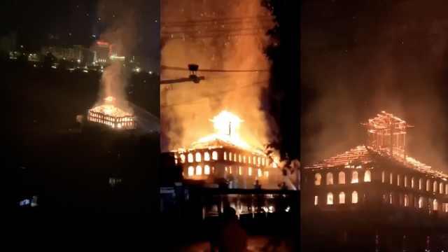 贵州百年陈公馆再次着火,主楼烧毁