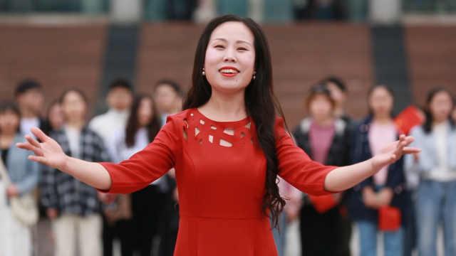 快闪献礼,湖工师生共唱我爱你中国