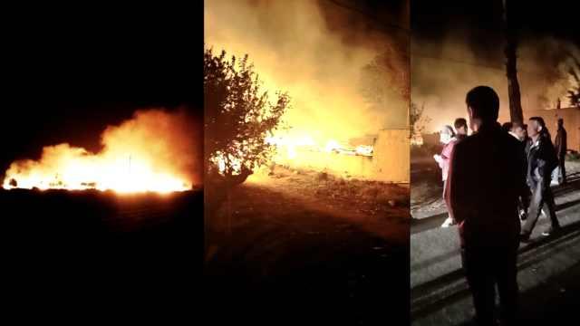 大火夜袭村庄烧50羊,1头猪惊险逃生