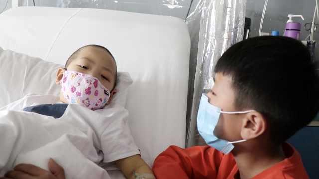 10岁哥愿捐髓救白血病弟:要好起来