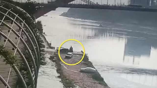 突发!汽车倒车坠20米金沙江,正救援
