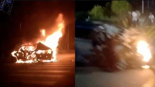黑龙江两车追尾后起火,致4死6伤