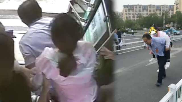 女子公交上晕倒,乘客喊:直接开医院