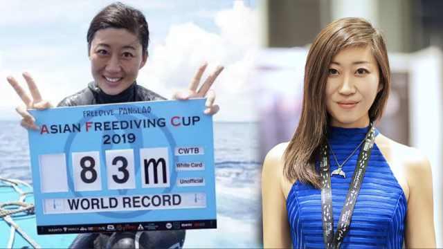 赞!中国女博士首破自由潜世界纪录