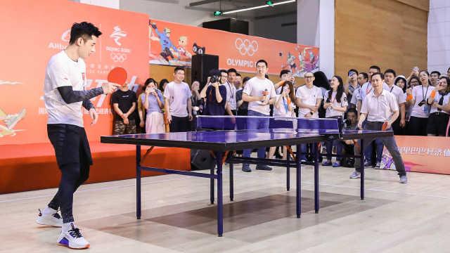 张继科张勇跨界乒乓大战,谁赢了?