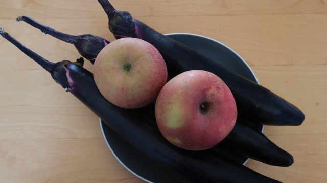 茄子和苹果这样做,真好吃