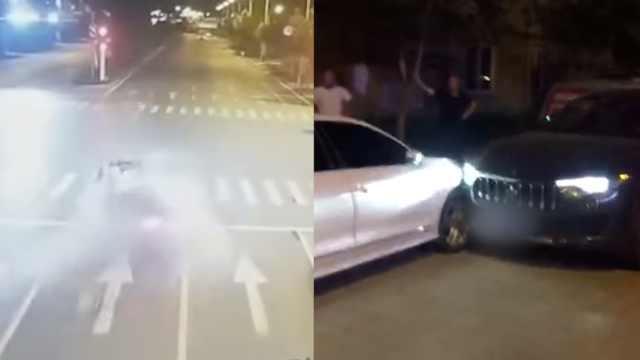 警方再次通报醉驾玛莎拉蒂撞燃宝马