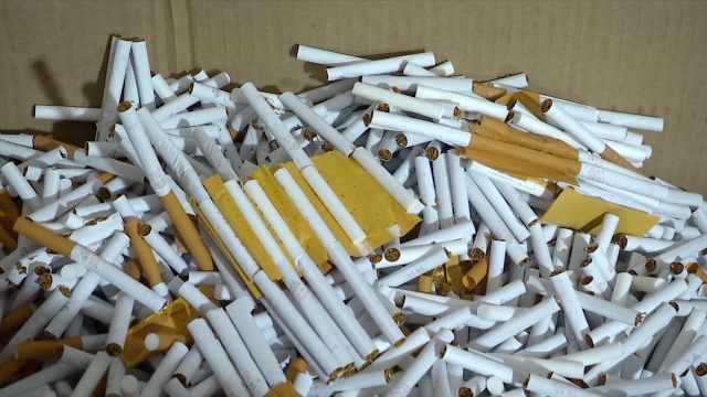 假烟制造窝点被端,查获8千公斤烟丝