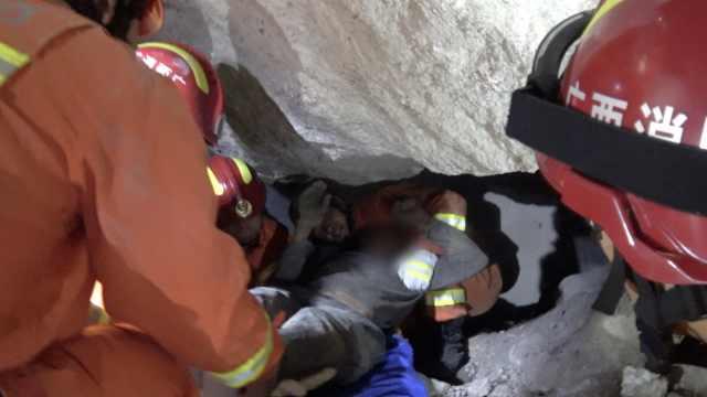 救援现场!广西一矿山塌方5人被埋