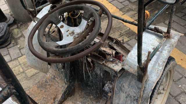 3轮车非法改装成4轮车,一上路被扣