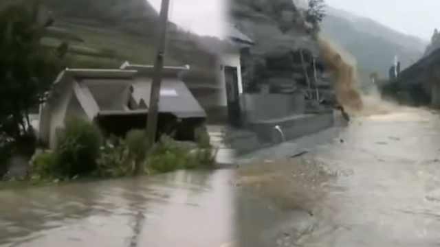 陕西白河山洪暴发,致1死1伤3失联