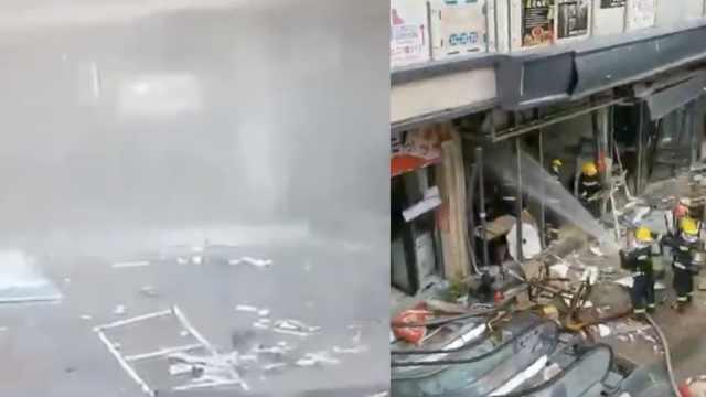 苏州一小吃店煤气闪爆:两人受伤