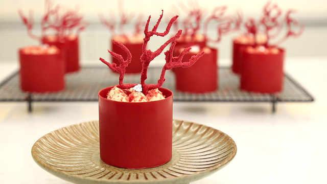 红李芝士蛋糕:带动气氛的甜品来了