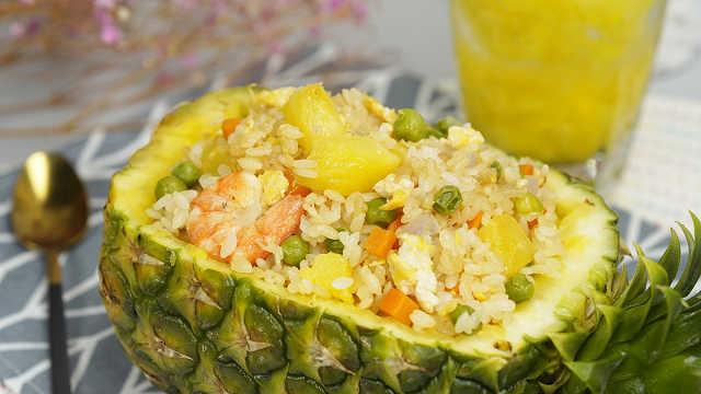 米饭配菠萝,让人尖叫的神仙炒饭!
