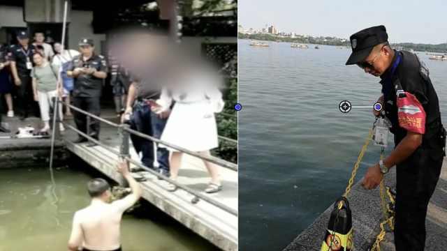 捞哥守西湖12年,帮游客捞落水手机