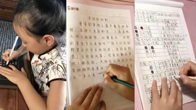 工整似印刷体!8岁女孩作业本爆红