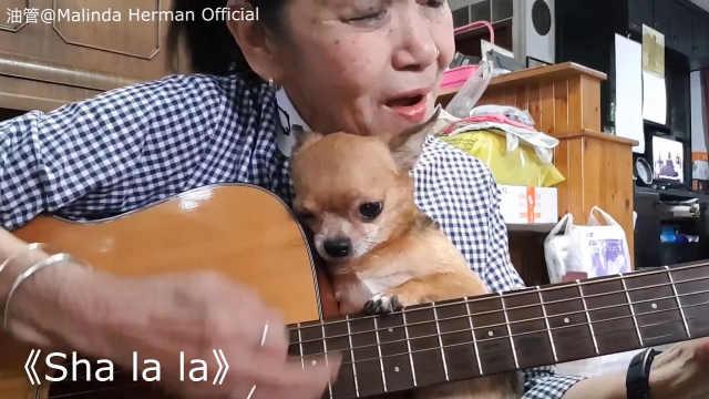 泰国奶奶经常翻唱各种英文歌!