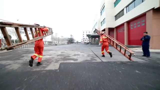 超燃!大连消防员的速度这样练成