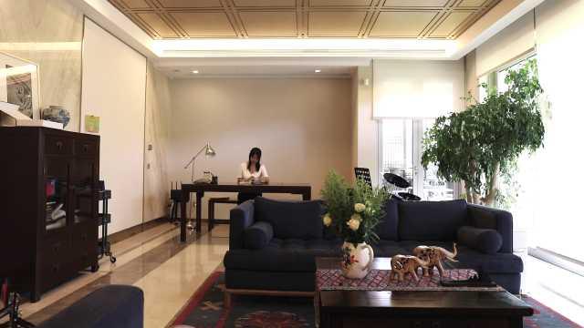 小姐姐买下200平大公寓做室内庭院