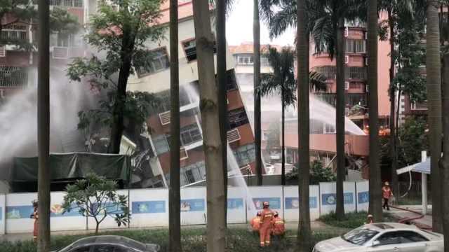 深圳楼房倒塌后续:对现场进行拆除