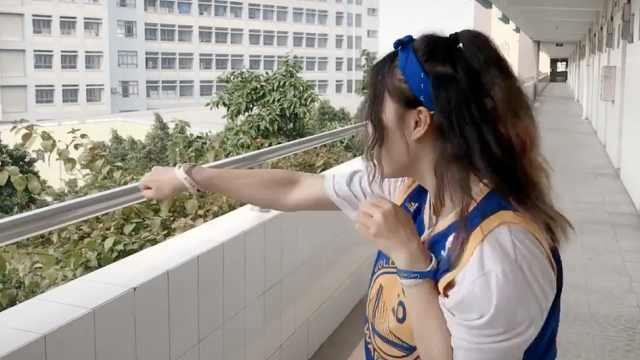 酷!大二女生练泰拳:可以自我保护