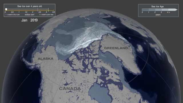 NASA新公布图像:北极海冰急剧减少