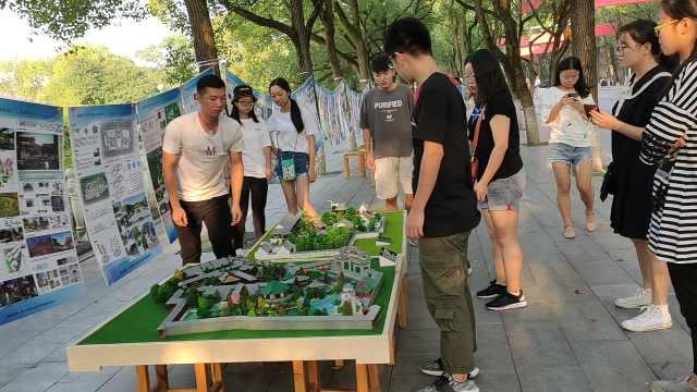 高校用园林设计模型迎新,家长:直观