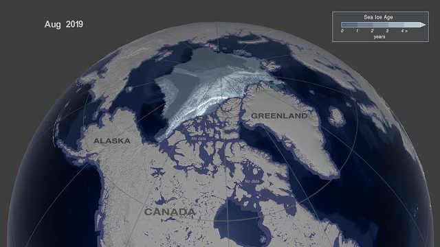 北冰洋海冰剧变,35年缩减96%