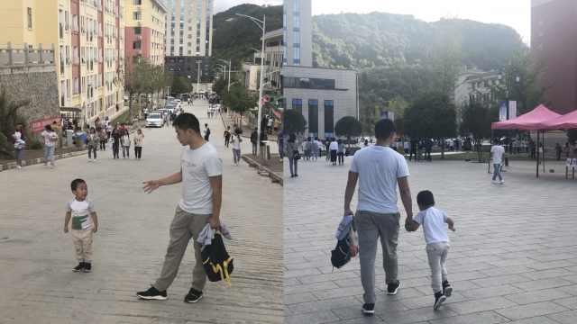 32岁男子带娃读大学,女同学帮忙带