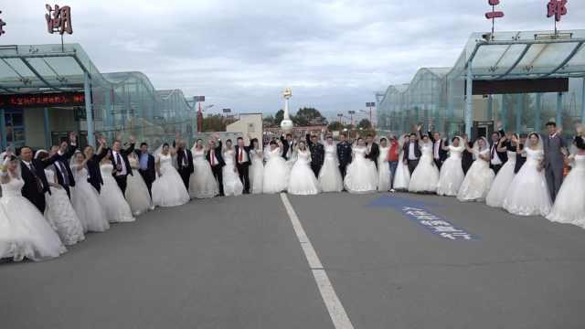 青海湖边办集体婚礼,传递环保理念