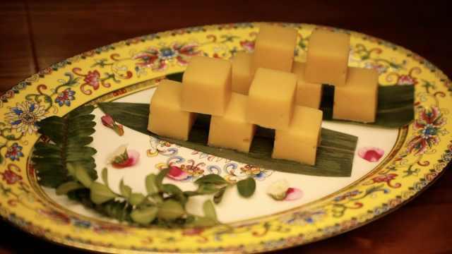 豌豆黄的顶级做法,一天一夜才做好