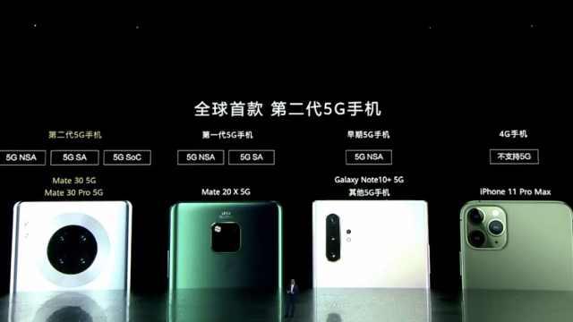 华为手机CEO余承东diss其他5G手机