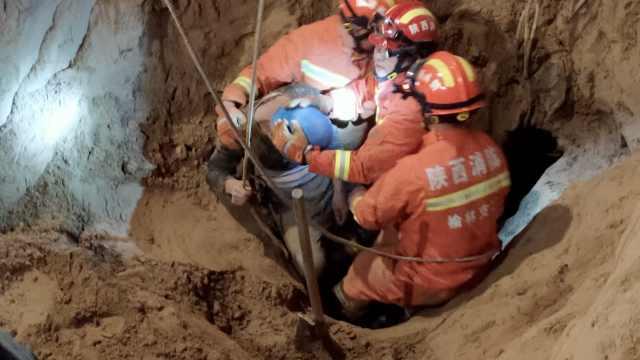 工人埋地下14米,消防挖井21小时救