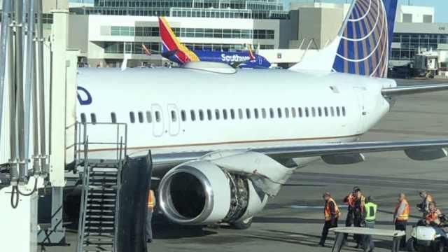 美波音737紧急返航,引擎蒙皮被掀开