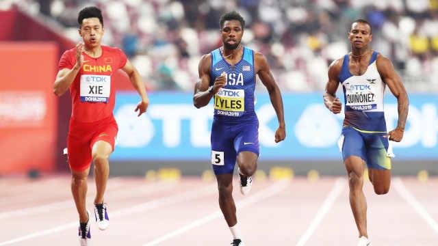 谢震业200米进决赛,成中国第一人