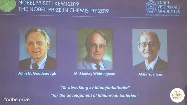 诺贝尔化学奖公布,三位科学家获奖