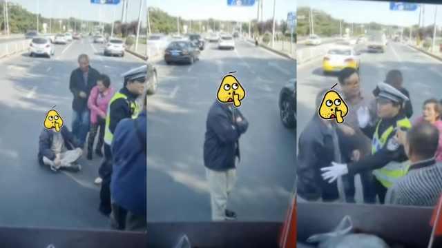 景区免费,老人挤不上公交当街拦车