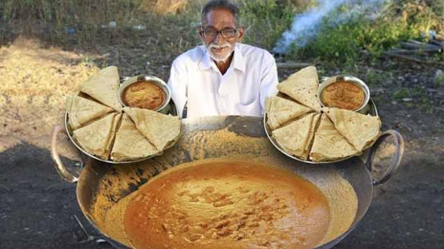为孤儿做饭成网红!印73岁爷爷去世