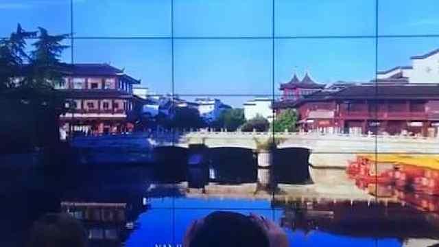 南京夫子庙裸眼3D视频亮相中国馆