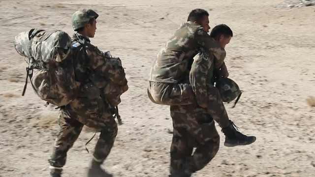 特战队极限演练,负重60斤超18小时