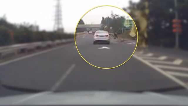 老人抄近路回家,逆行横穿高速被撞