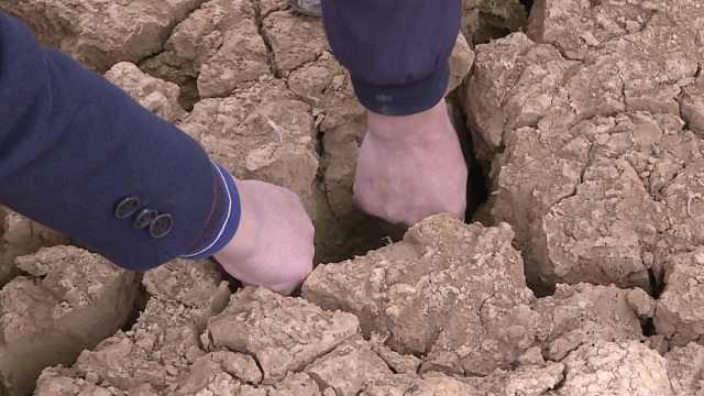 江西干旱持续:水井干枯地缝大如拳