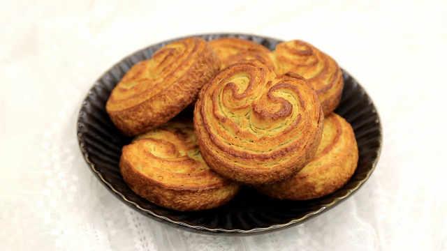 法式焦糖蝴蝶酥:家庭简易开酥法