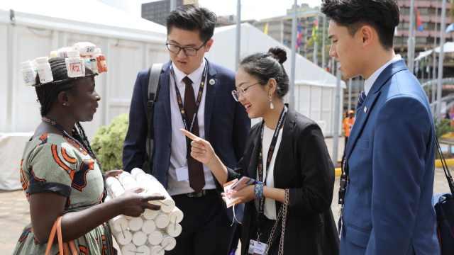 女生参加联合国峰会:消除性别暴力