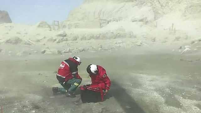 新西兰火山救援人员:像切尔诺贝利
