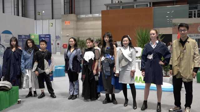 中国青年气候大会旧衣秀:少买衣服