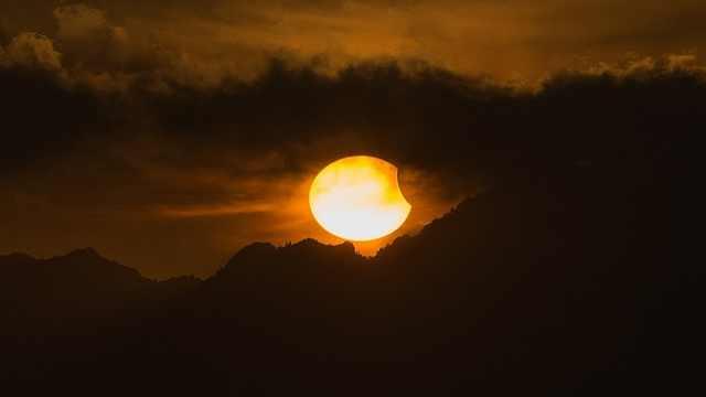 今日我国全境都可观测到:日偏食